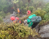 Descending from Patuha Trig